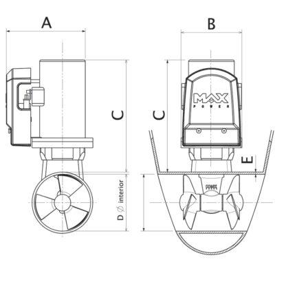 Electric-Tunnel -Thruster-CT- 45-gaelixmarineservice.com